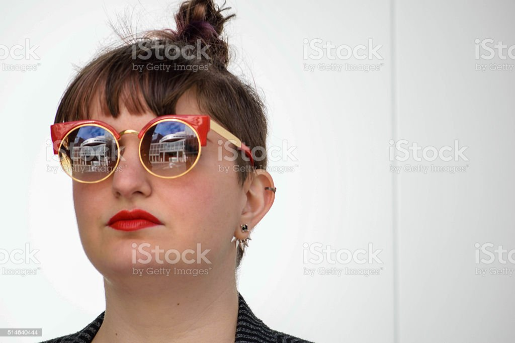 Head-shot Of Young, Cool White Female stock photo