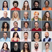 Headshots Of Multi-Ethnic Group