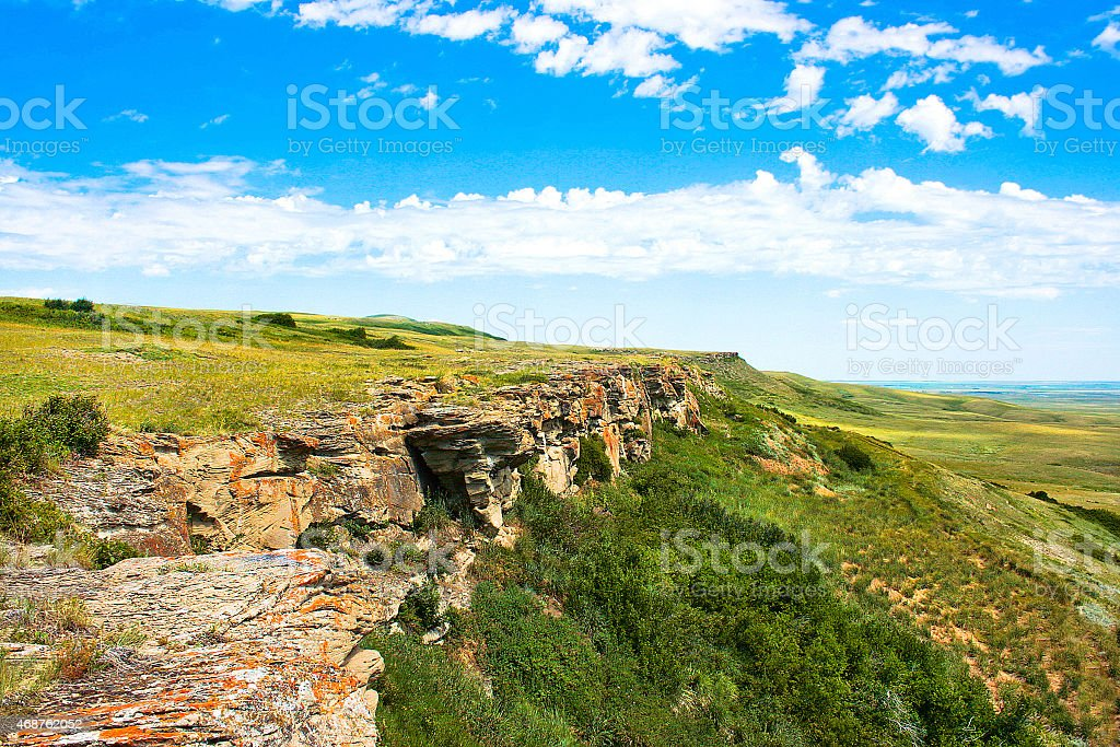 Head-Smashed-In Buffalo Jump, Alberta, Canada stock photo