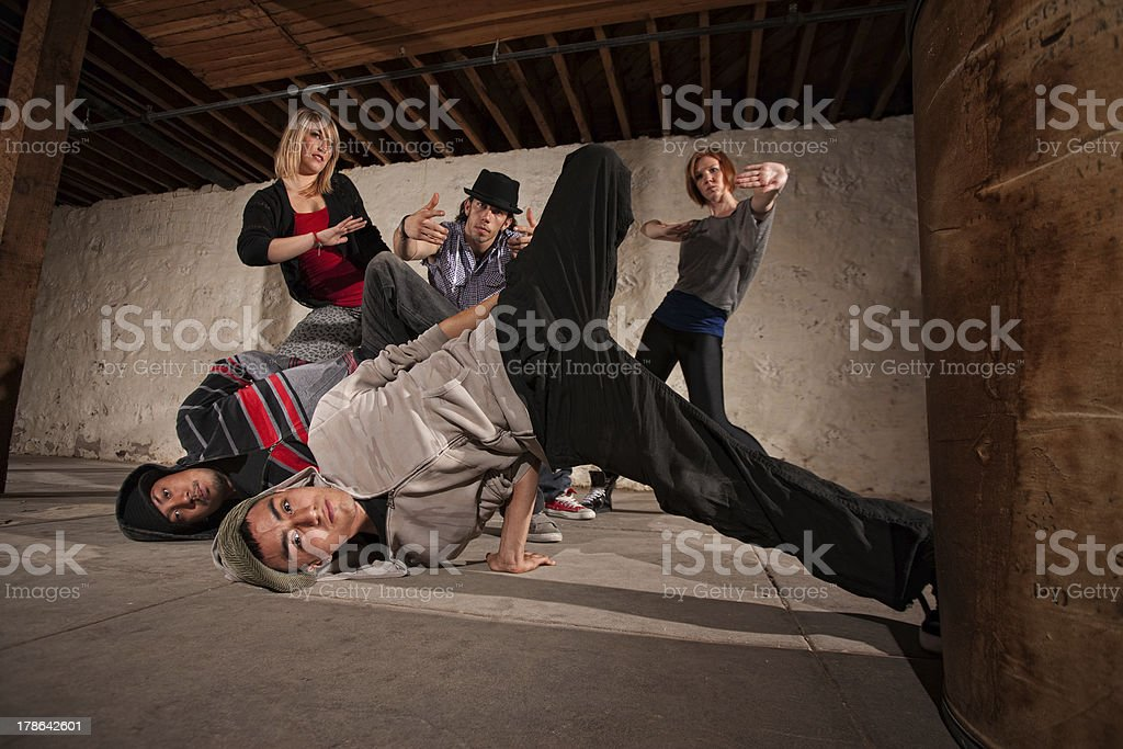 Headspin Landing royalty-free stock photo