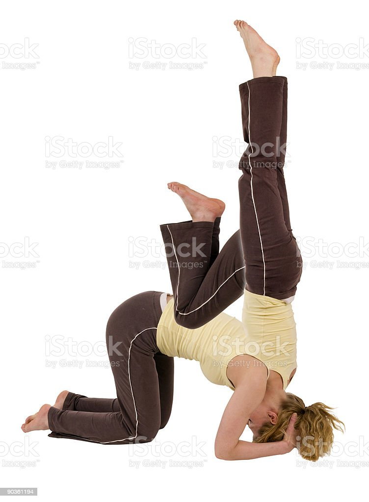 headstand 3 Phases royalty-free stock photo
