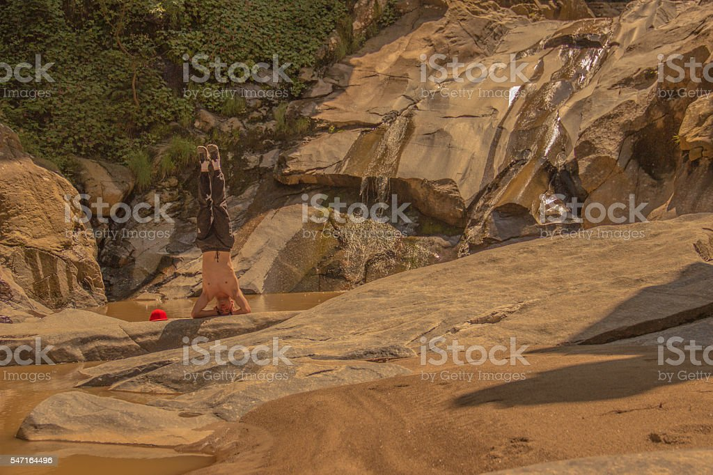 Headstand royalty-free stock photo