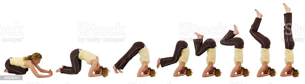 headstand sequence royalty-free stock photo