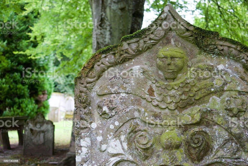 Headstone at Scone Palace stock photo