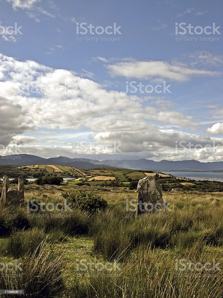 Headstone of the Ardgroom Stone Circle royalty-free stock photo