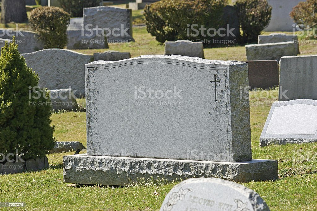 Headstone royalty-free stock photo