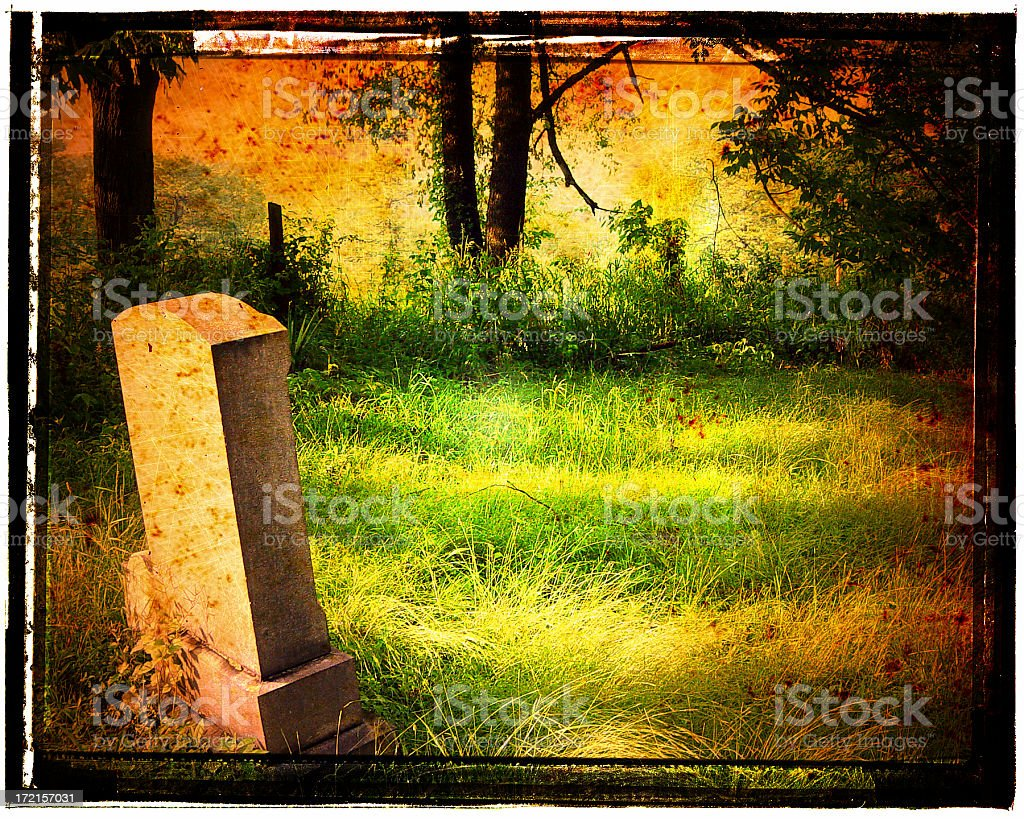 Headstone royalty-free stock photo