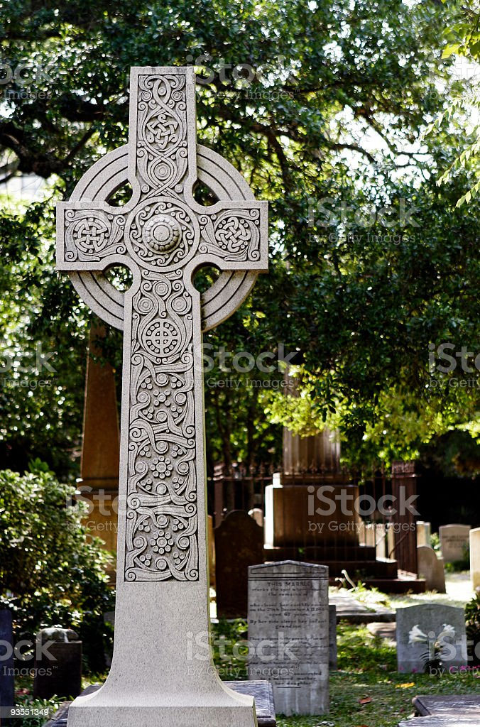 Headstone stock photo