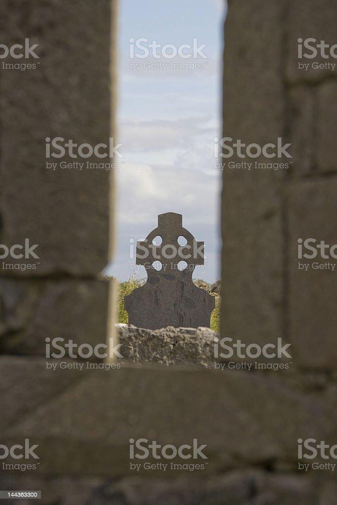 Headstone, sept églises photo libre de droits