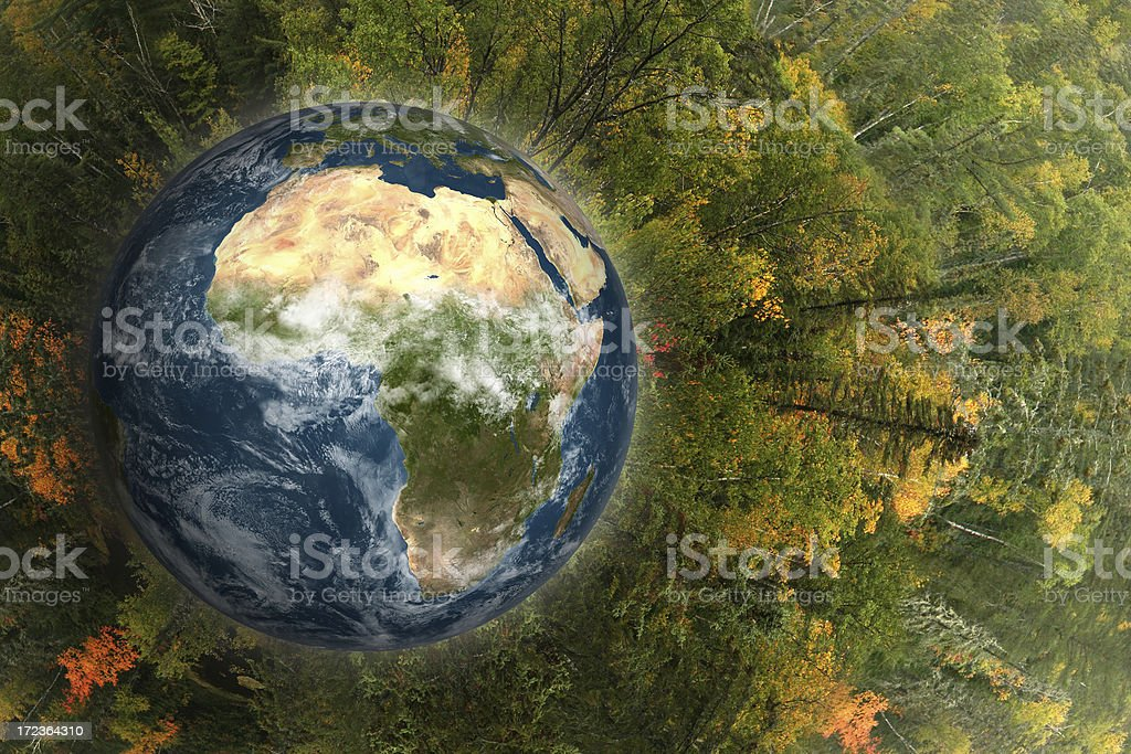 Heal the world stock photo