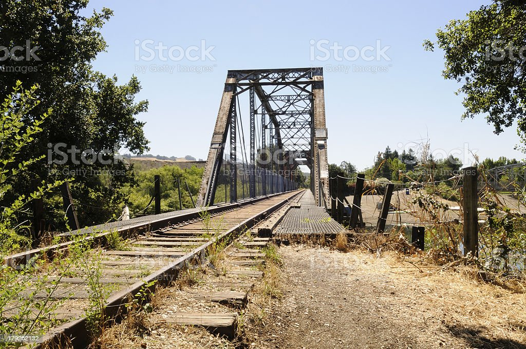 Healdsburg Train Bridge stock photo