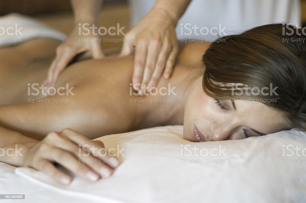 healing deep tissue massage royalty-free stock photo