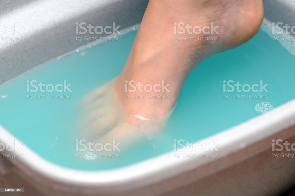 A healing foot bath at the spa  royalty-free stock photo