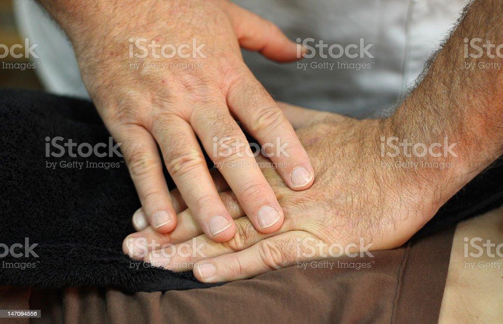 Healing hands royalty-free stock photo