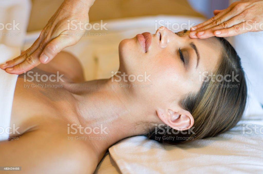 healing hands stock photo