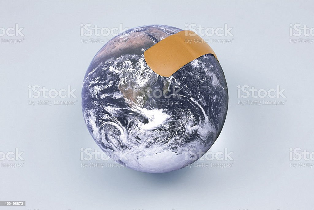 Healing the globe royalty-free stock photo
