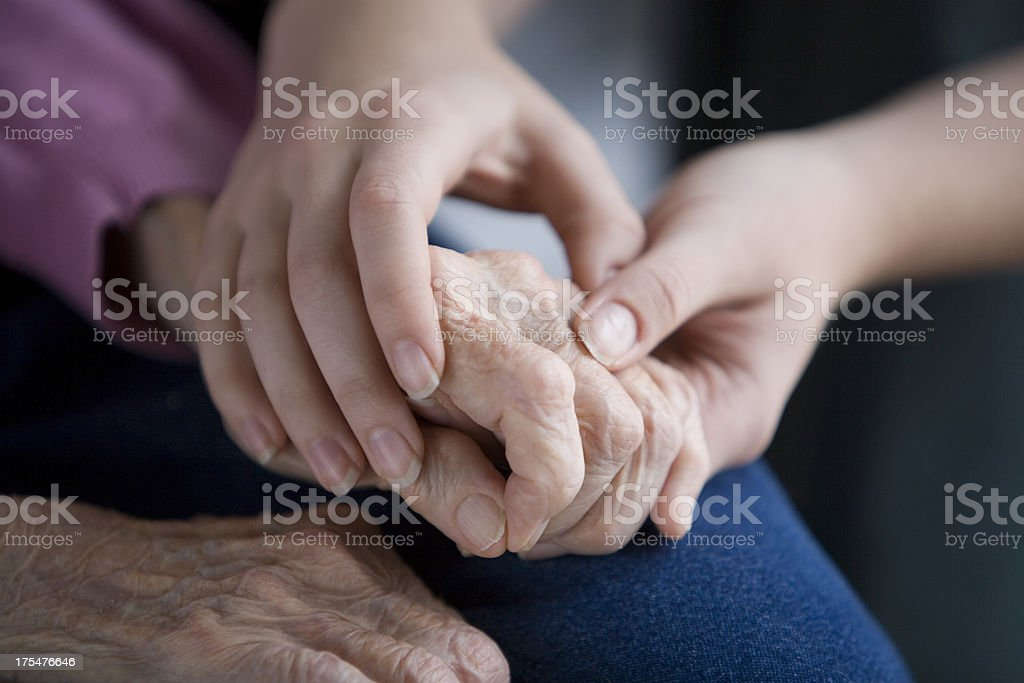 Healing touch royalty-free stock photo