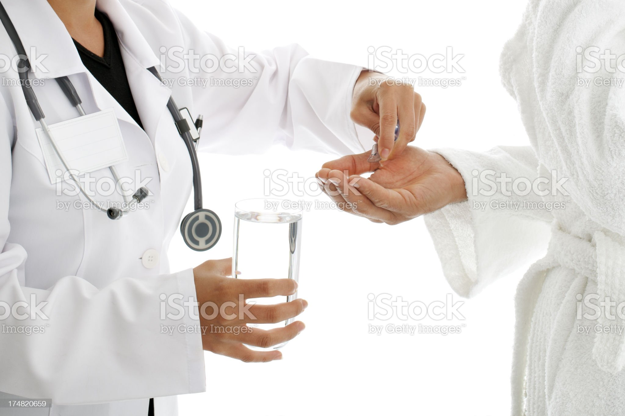 Healtcare worker and patient royalty-free stock photo