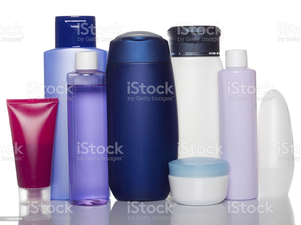 health and beauty products stock photo