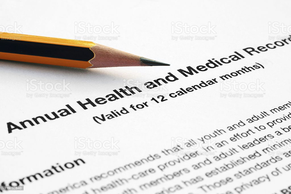 Health and medical report royalty-free stock photo