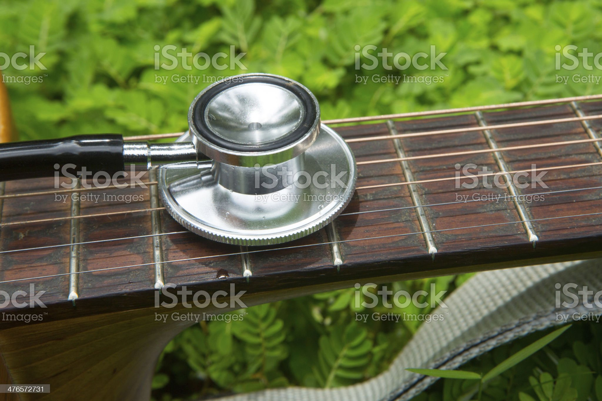 Health and Music royalty-free stock photo