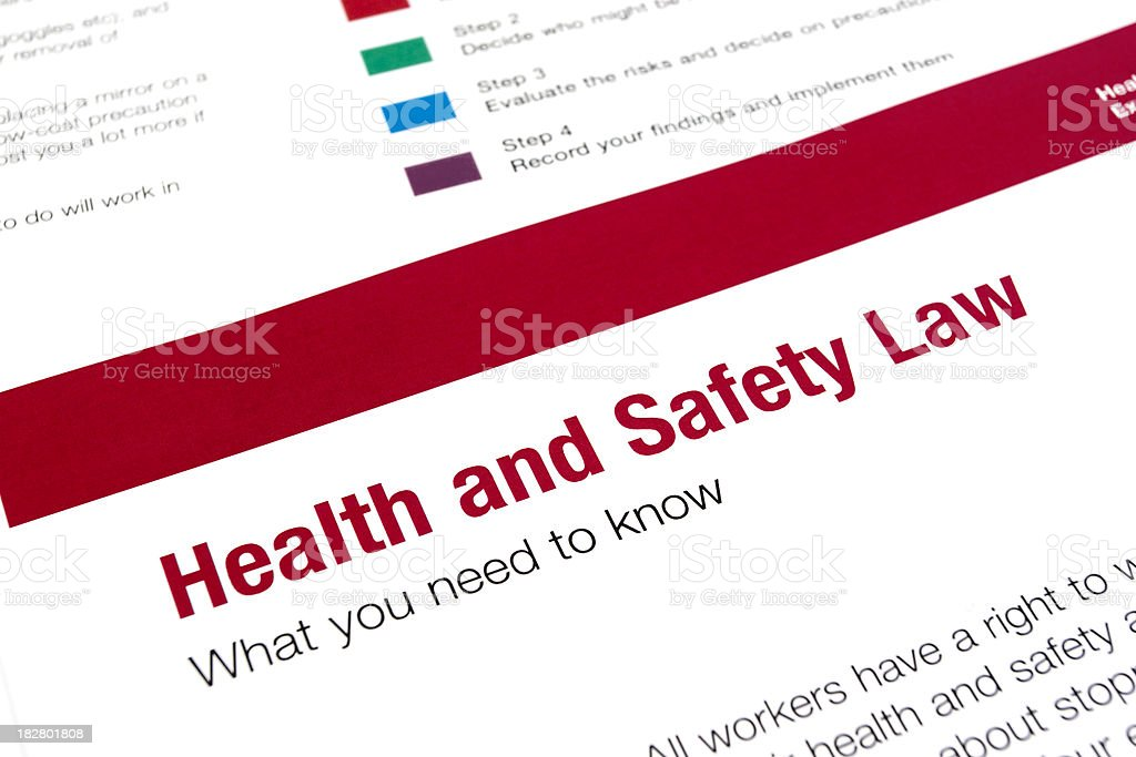 Health and safety law royalty-free stock photo