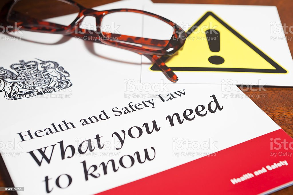 Health and Safety Law stock photo