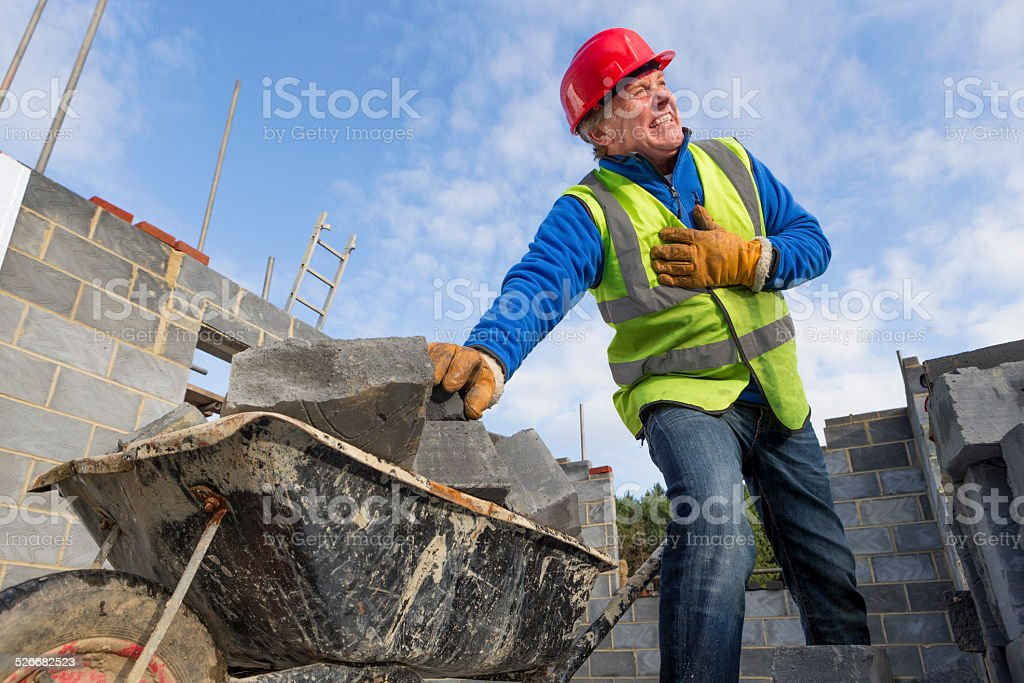 Health and Safety on Construction Site stock photo