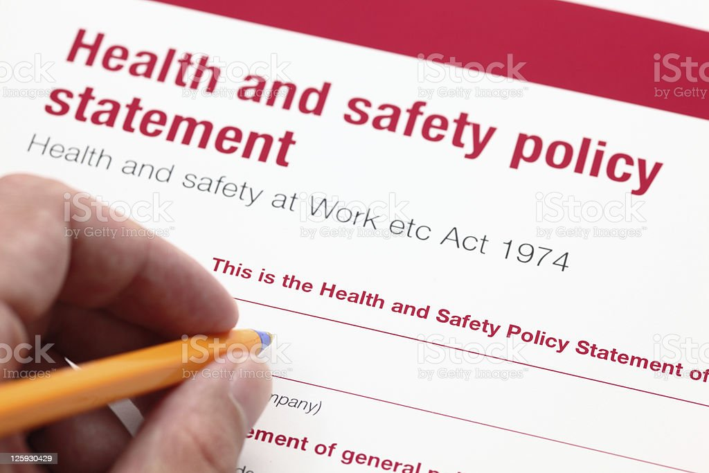 Health and safety policy statement. royalty-free stock photo
