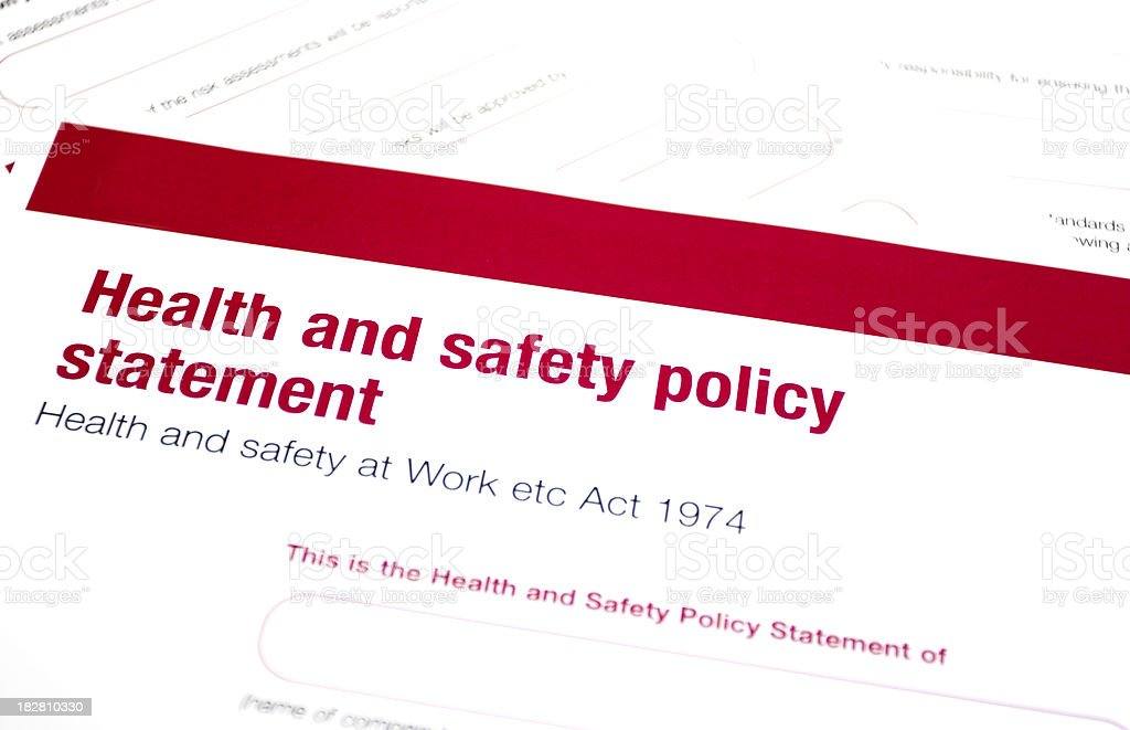 Health and safety statement royalty-free stock photo