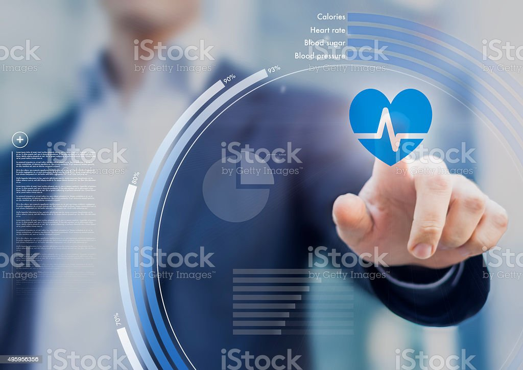 Health application stock photo