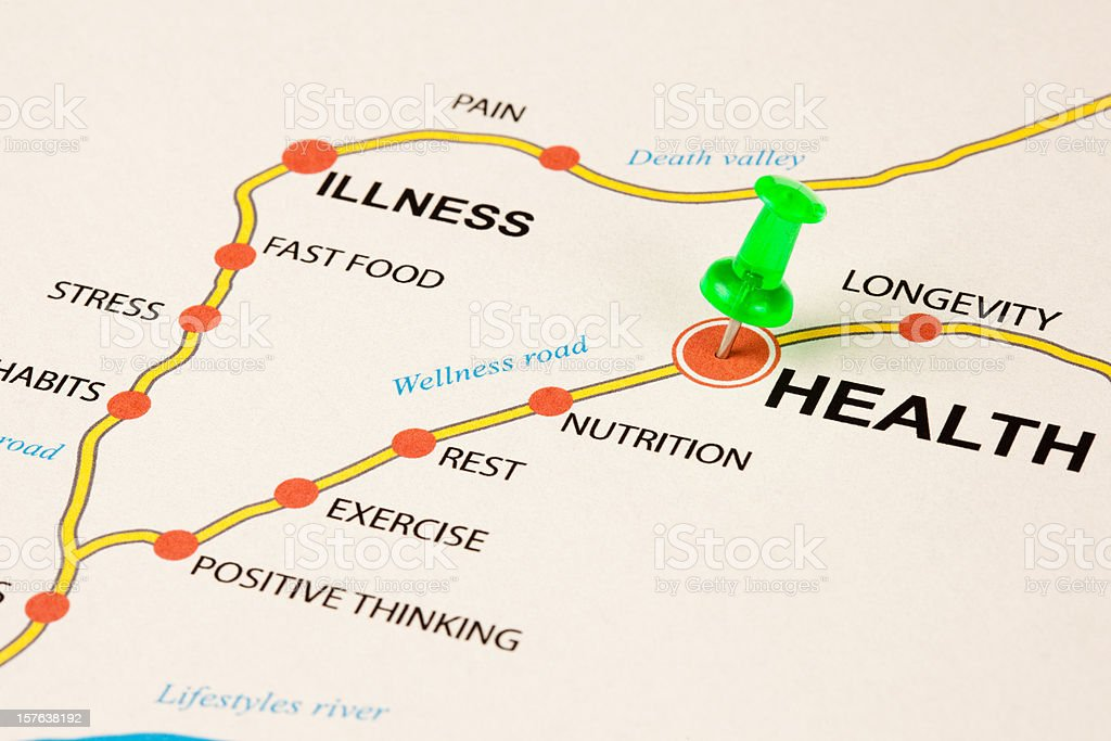 Health as target stock photo
