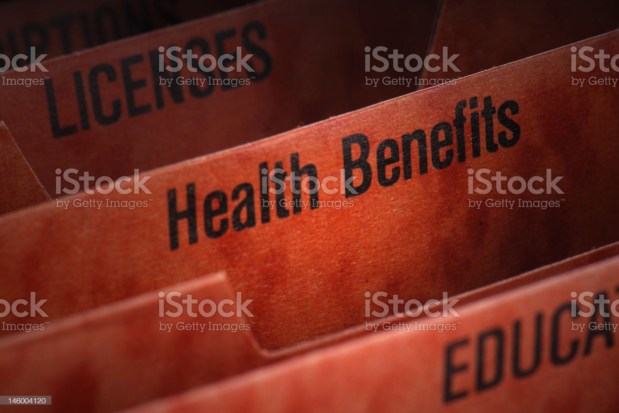 Health Benefits File royalty-free stock photo