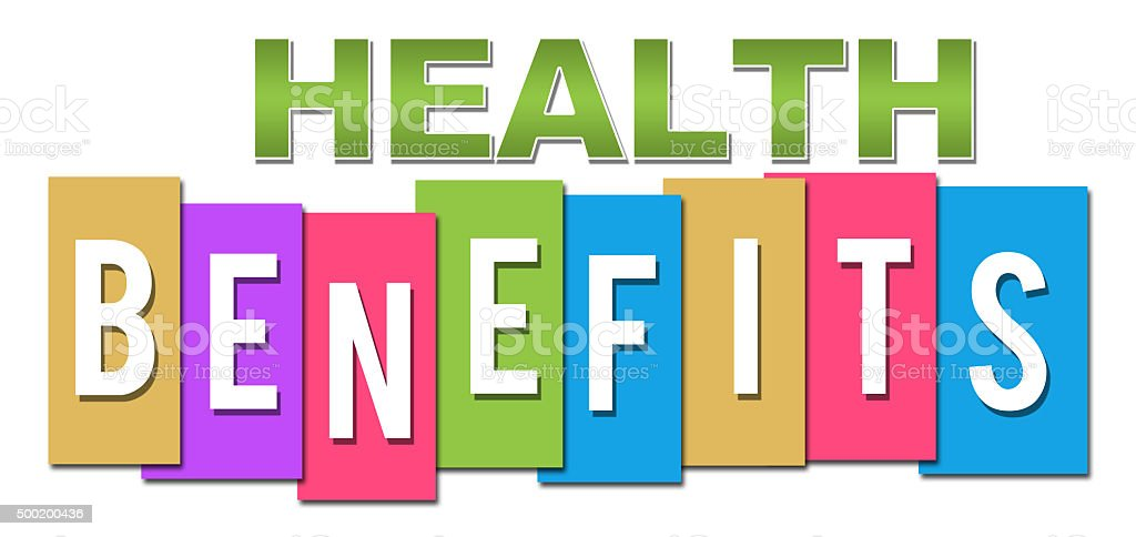 Health Benefits Professional Colorful stock photo