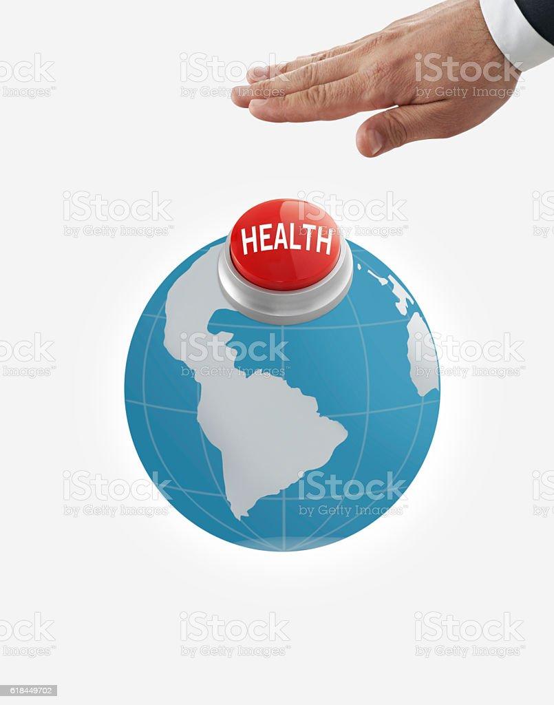 Health button stock photo