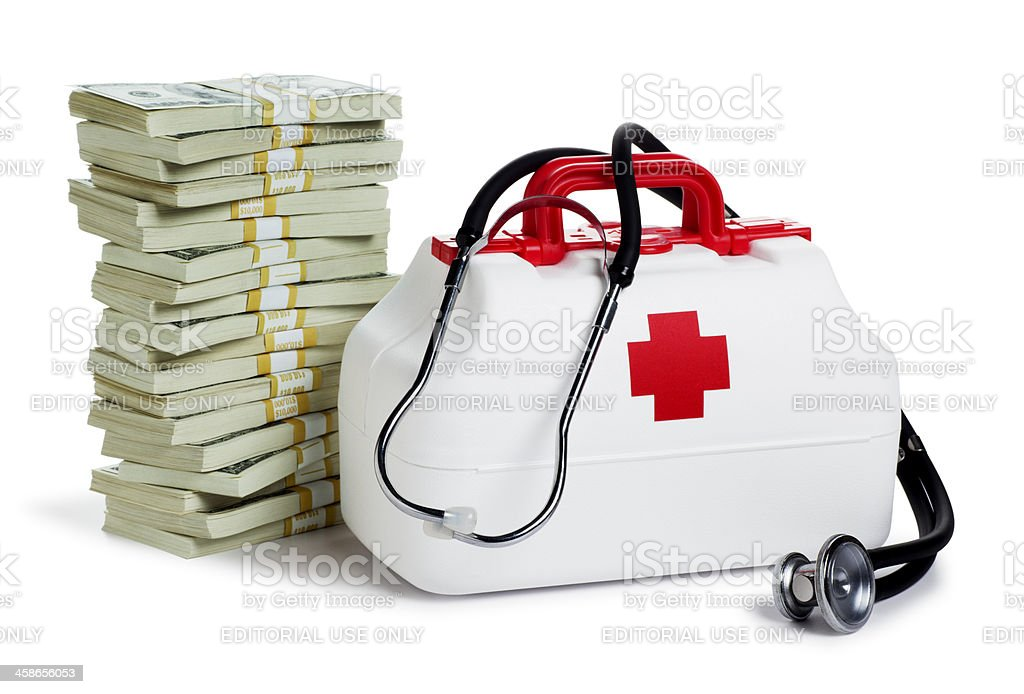 Health Care and Money royalty-free stock photo