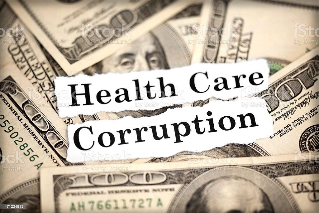 Health Care Corruption stock photo
