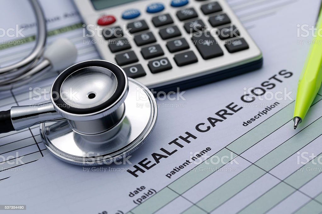 Health Care Cost statistics stock photo