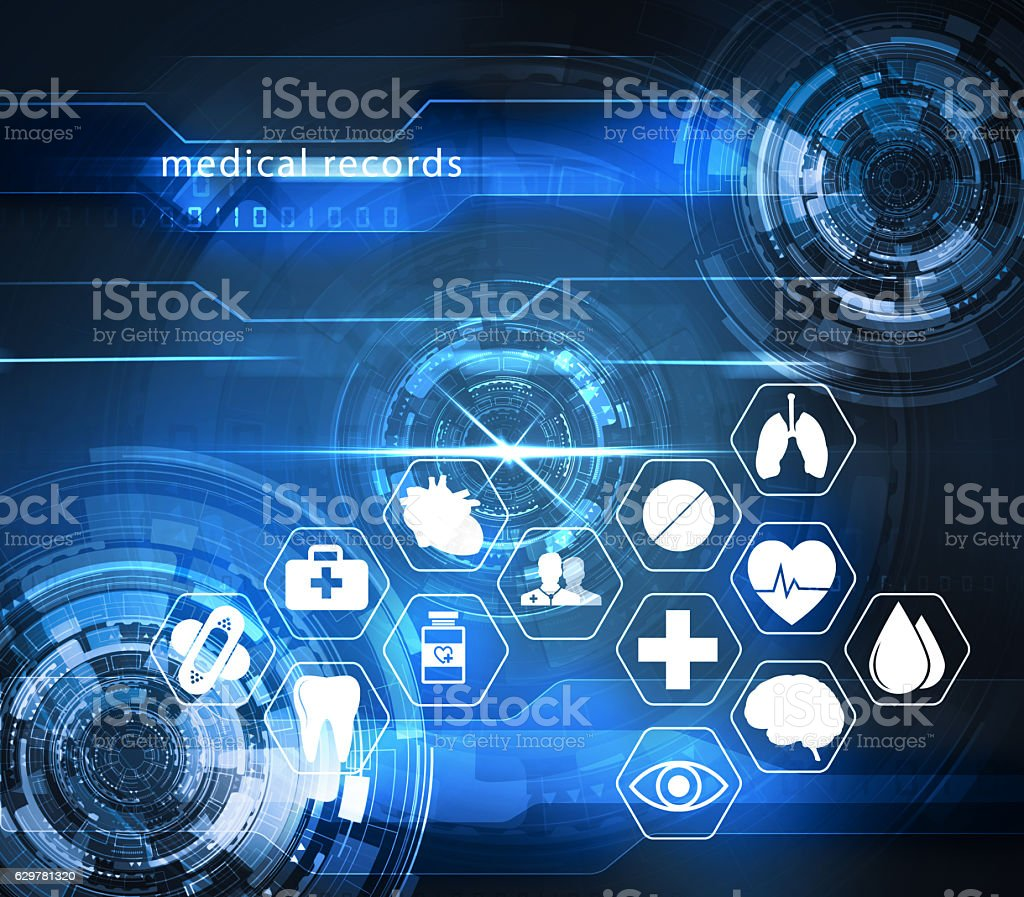 health care futuristic technology stock photo