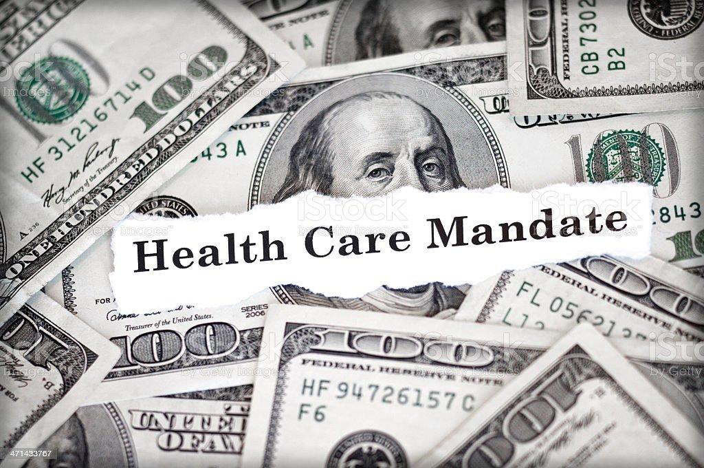 Health Care Mandate stock photo