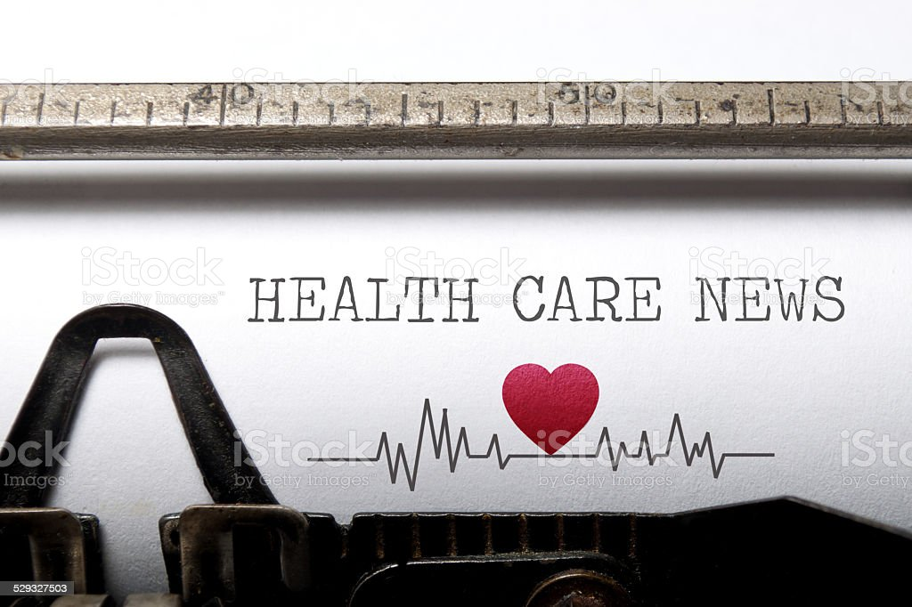 Health care news stock photo