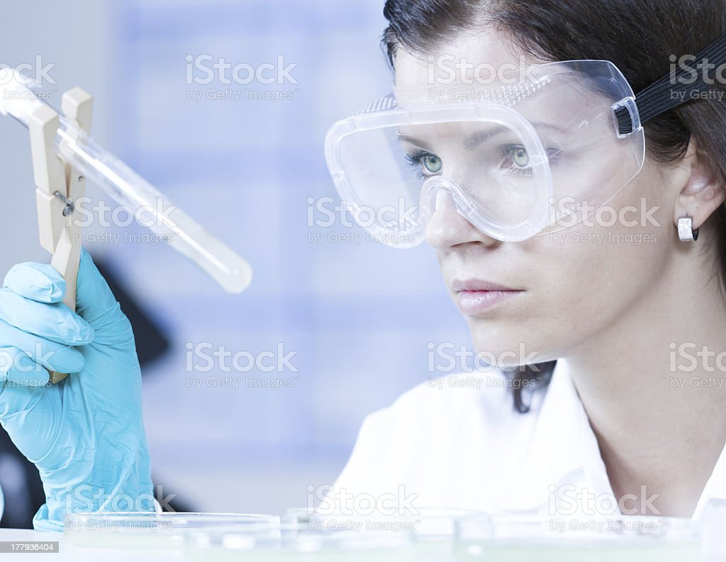 Health care professional in lab. royalty-free stock photo