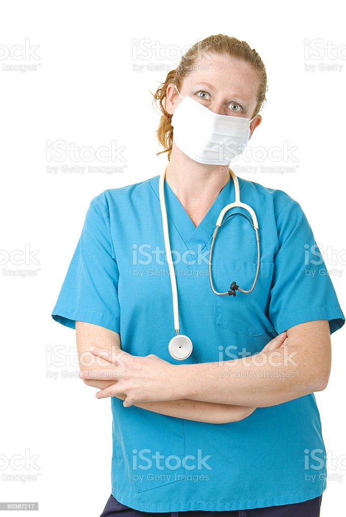 Health Care professional wears mask royalty-free stock photo