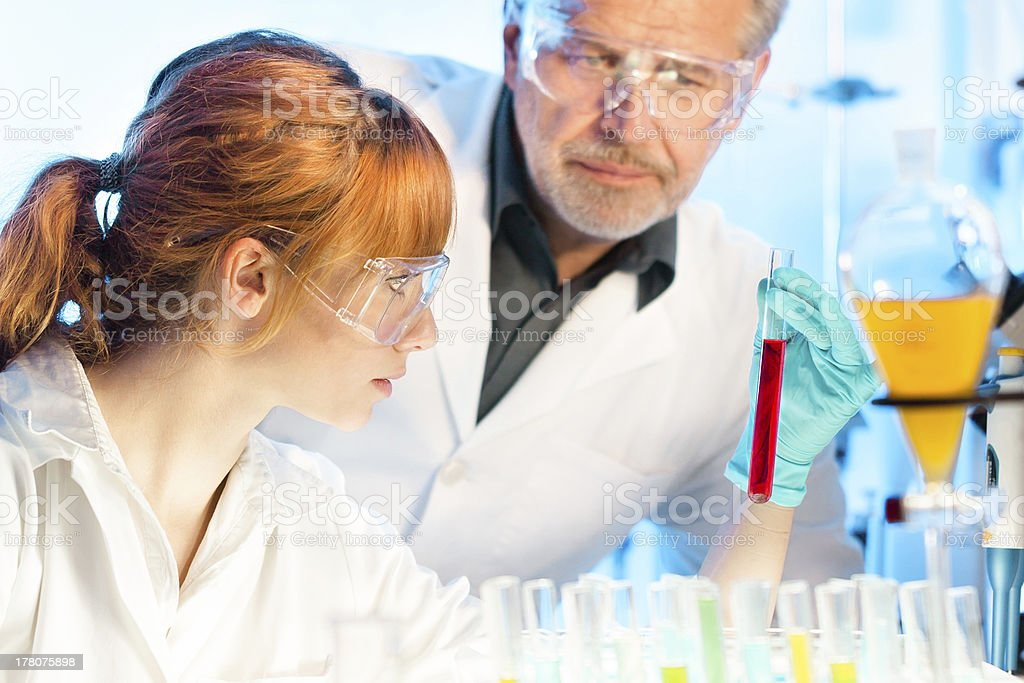 Health care professionals in lab. royalty-free stock photo
