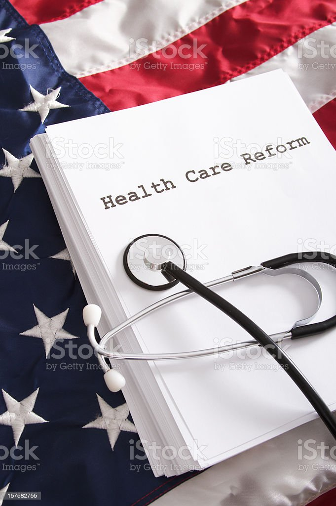 Health Care Reform Bill Law royalty-free stock photo