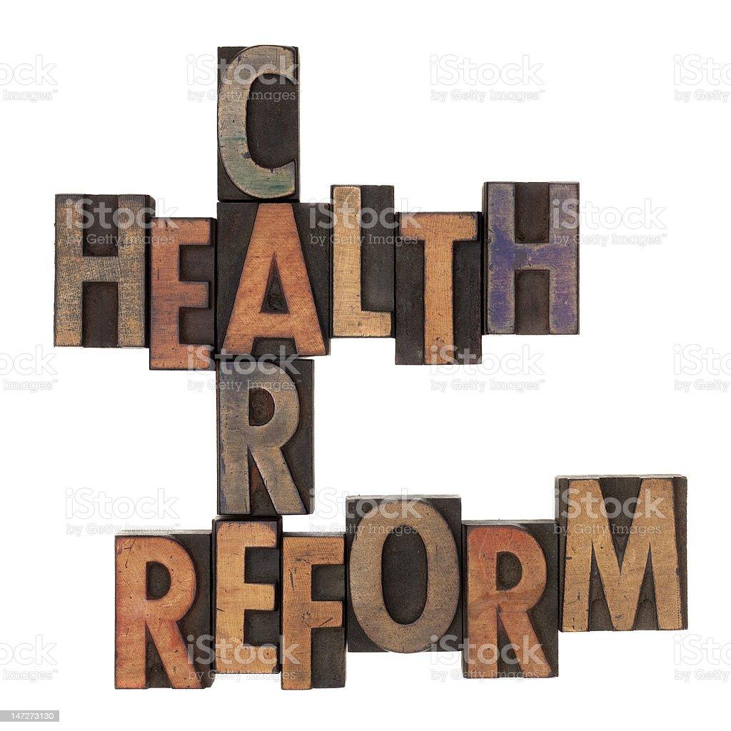 health care reform crossword stock photo