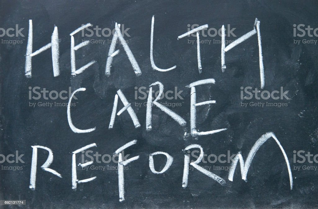 health care reform sign stock photo