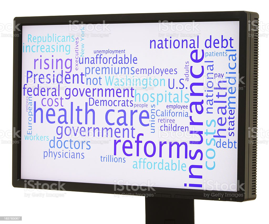 Health care reform word cloud royalty-free stock photo