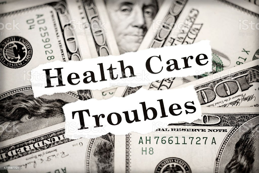 Health Care Troubles stock photo