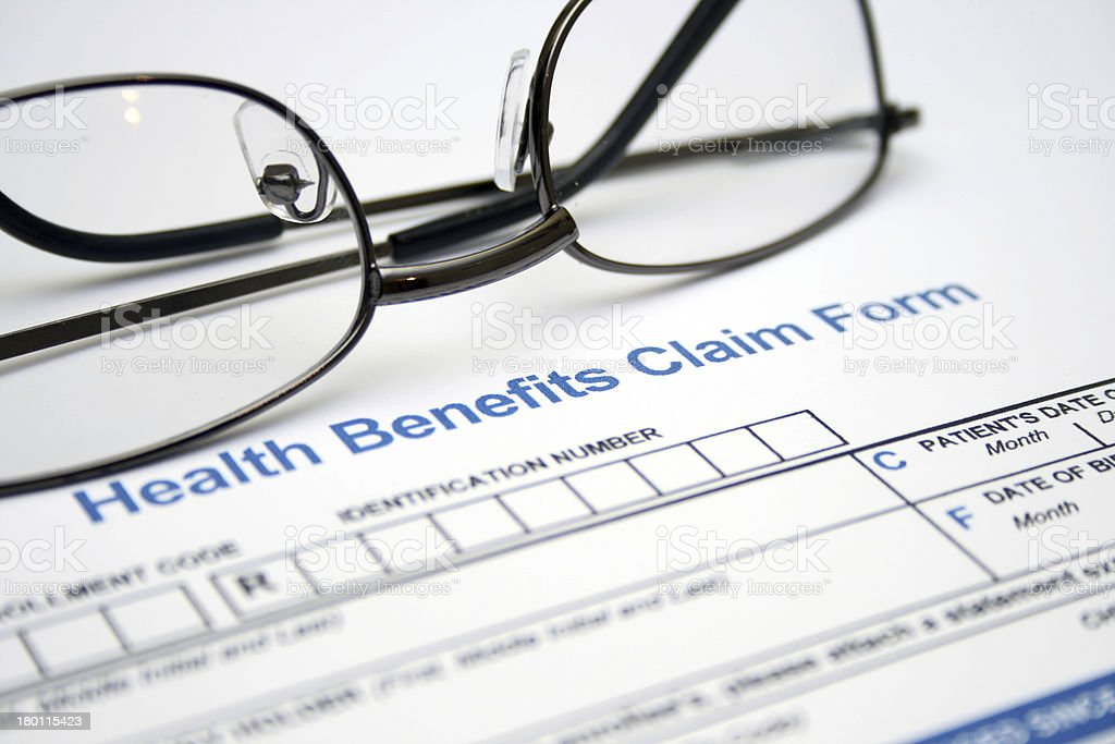 Health claim form royalty-free stock photo